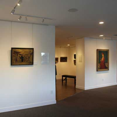 Leona Wood retrospective: gallery layout