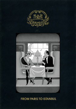 Orient Express theme benefit invitation