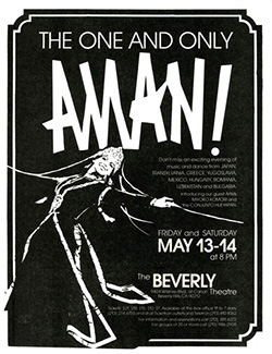 Flier for performance at the Beverly Theatre  (Samarkand dancer)