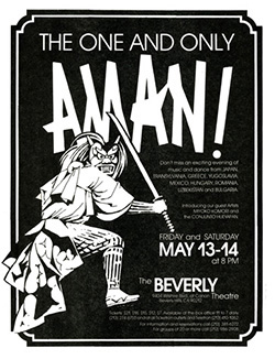 Flier for performance at the Beverly Theatre (Japanese oni dancer)